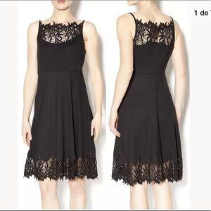 Free People Black fit y flare stretch dress